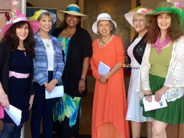 _Joann, Pam, Beverly, Nilsa Janice, Gail Easter hats 4.16.17-2