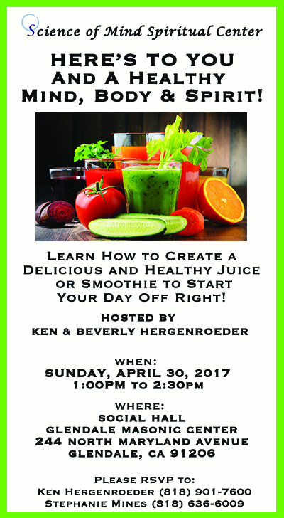 Science of Mind Spiritual Center Los Angeles - Juice and Smoothie Event